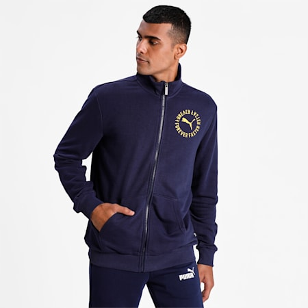 Mens Graphic Track Jkt TR II, Peacoat, small-IND