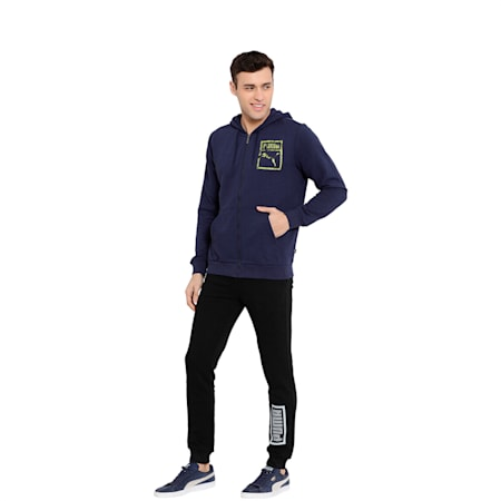 Mens Graphic FZ Hoody TR XI, Peacoat, small-IND