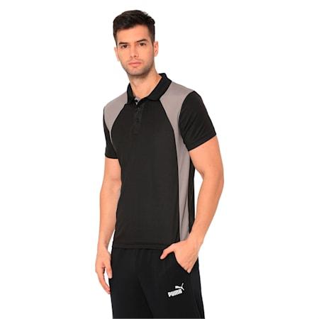 Men's Training Polo, Puma Black-Steel Gray, small-IND