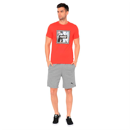Check Graphic Men's Tee, High Risk Red, small-IND