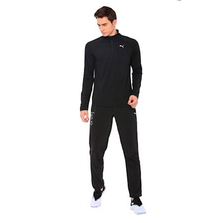 PUMA x Virat Kohli Active Men's Half Zip Pullover, Puma Black, small-IND