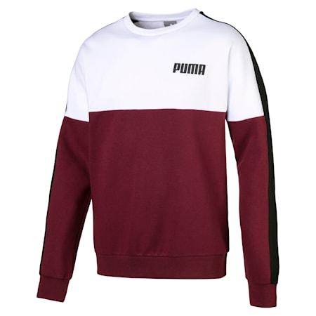 Fleece Men's Sweater, Tawny Port, small