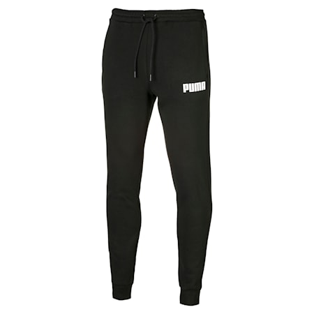 Fleece Men's Sweatpants, Puma Black, small