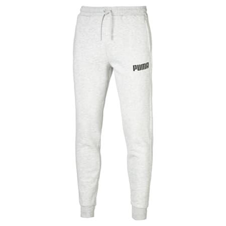 Fleece Men's Sweatpants, Light Gray Heather, small