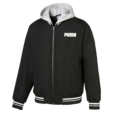 Hooded Men's Bomber Jacket, Puma Black, small