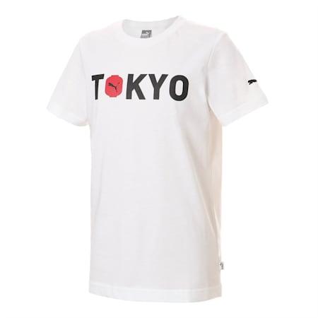 キッズ シティー 半袖 Tシャツ TOKYO 東京, Puma White, small-JPN