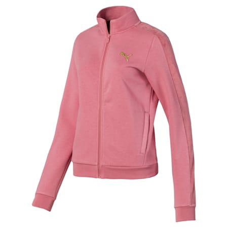 Fleece Full Zip Women's Jacket, Brandied Apricot, small