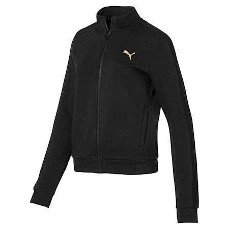 Fleece Full Zip Women's Jacket, Puma Black, small