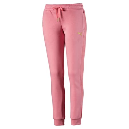 Fleece Women's Track Pants, Brandied Apricot, small