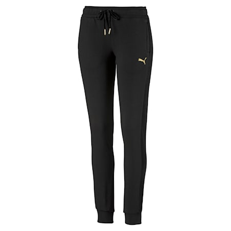 Fleece Women's Track Pants, Puma Black, small