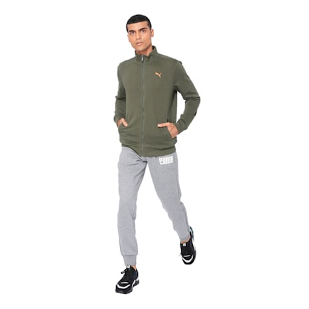 Men's Sweat Jacket, Forest Night, small-IND