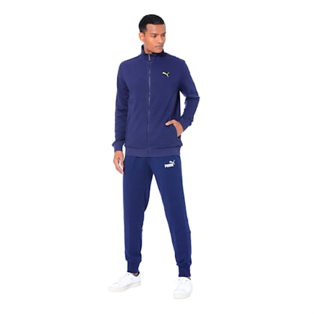 Men's Sweat Jacket, Peacoat, small-IND