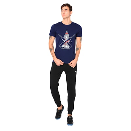 Cricket Graphic Tee, Peacoat, small-IND