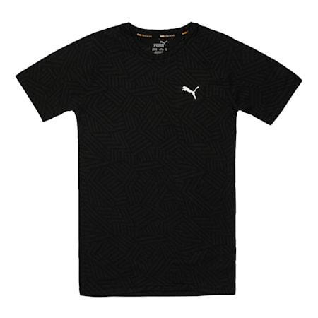 one8 Virat Kohli Boy's  Jacquard  T - Shirt, Puma Black, small-IND