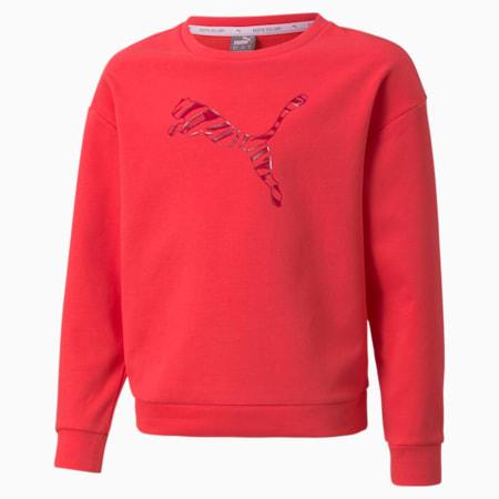 Sudadera con cuello redondo Modern Sports para niñas, Paradise Pink, pequeño
