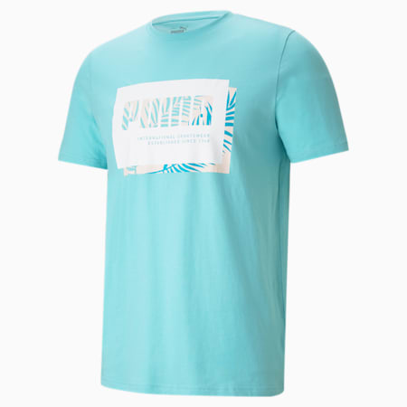 Summer Court Graphic Men's Tee, Angel Blue, small