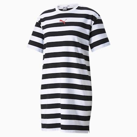 Summer Stripes Printed Women's Dress, Puma Black, small-GBR