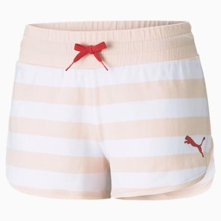 Summer Stripes damesshort met print, Cloud Pink, small