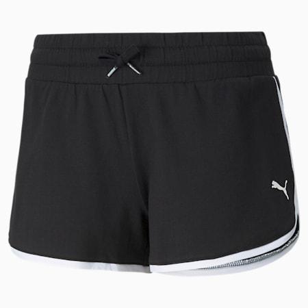 Summer Stripes Women's Shorts, Puma Black, small-GBR