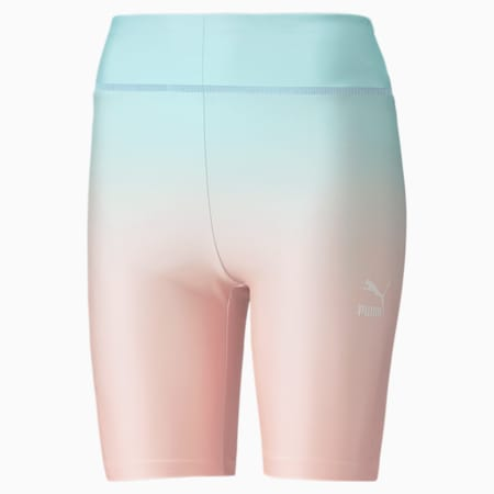 Gloaming Printed Short Women's Tights, Eggshell Blue-Gloaming, small-SEA