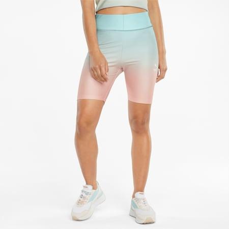 Damskie krótkie legginsy Gloaming z nadrukiem, Eggshell Blue-Gloaming, small