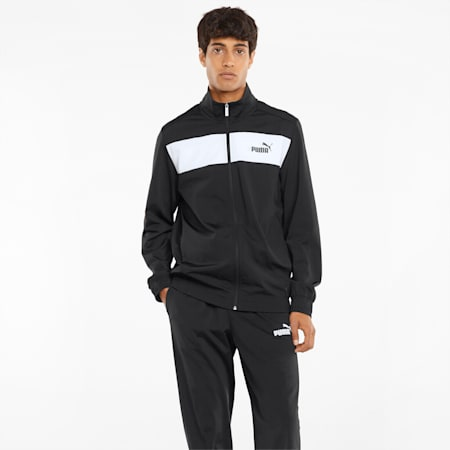 Polyester Men's Track Suit, Puma Black, small-IND