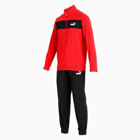 Polyester Men's Track Suit, High Risk Red, small-IND