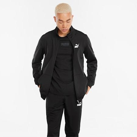 BTS Polyester Regular Fit Men's Track Suit, Puma Black, small-IND