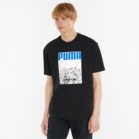 Photo Photo Print Relaxed Fit Men's T-Shirt, Puma Black, small-IND