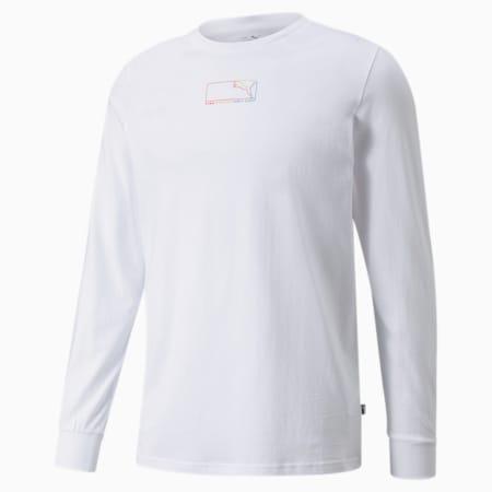 PUMA Graphic Regular Fit Longsleeve Men's T-Shirt, Puma White, small-IND