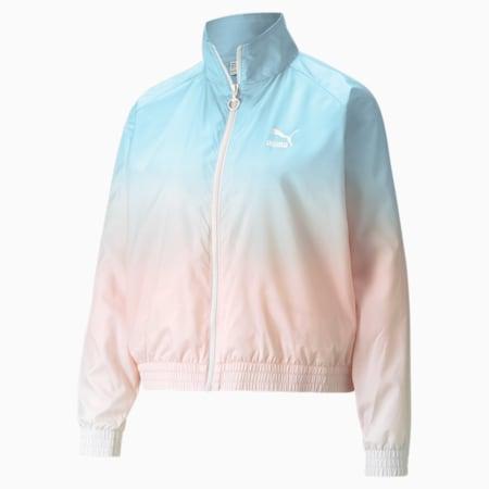 Gloaming Printed Full-Zip Women's Jacket, Eggshell Blue-Gloaming, small-SEA