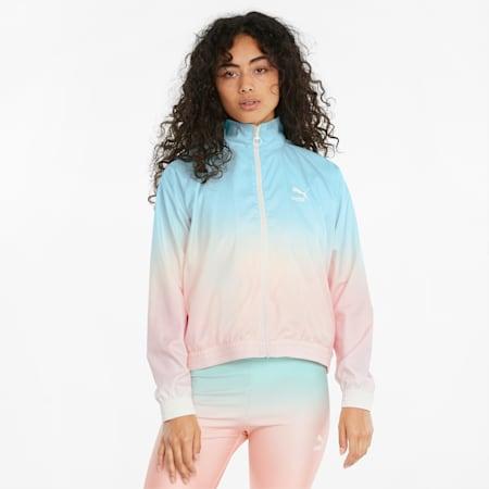Gloaming Printed Full-Zip Women's Jacket, Eggshell Blue-Gloaming, small