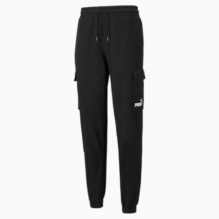 Pantalones deportivos cargo Power para hombre, Puma Black, pequeño