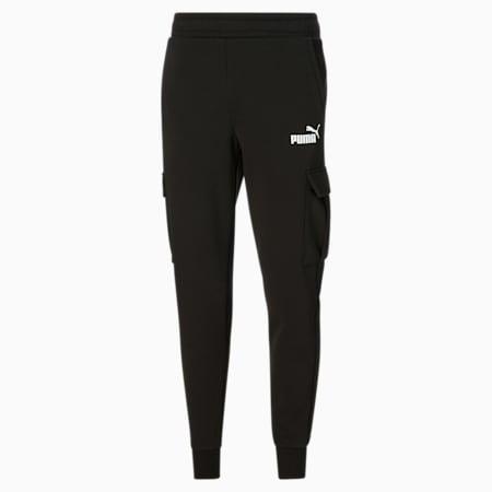 Pantalones Essentials con bolsillos para hombre, Cotton Black, pequeño