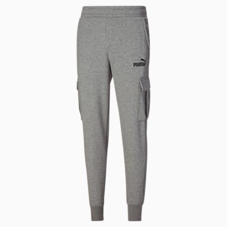 Pantalones Essentials con bolsillos para hombre, Medium Gray Heather, pequeño