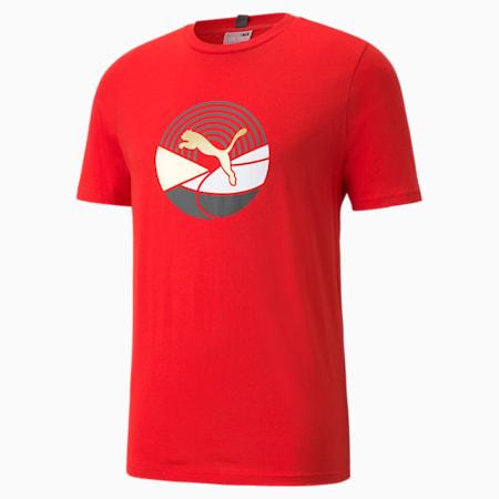 T-shirt graphique AS, homme, Rouge risque élevé, petit
