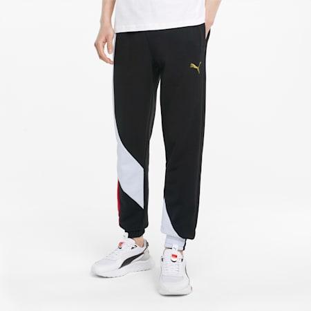 Art of Sport Regular Fit Knitted Men's Pants, Puma Black, small-IND
