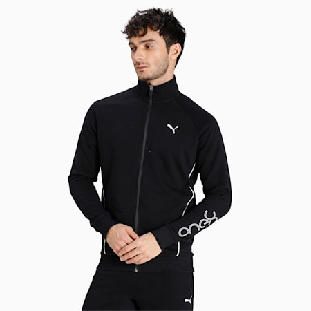 one8 Virat Kohli Logo Slim Fit Men's Jacket, Puma Black, small-IND