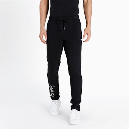 one8 Virat Kohli Slim Fit Men's Logo Sweat Pants, Puma Black, small-IND