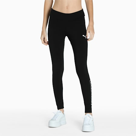 Basic Tight Fit Women's Leggings, Puma Black, small-IND