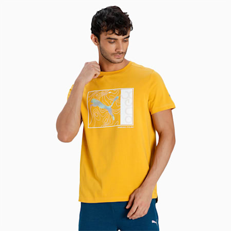 one8 Virat Kohli Graphic Slim Fit Men's T-Shirt, Mineral Yellow, small-IND