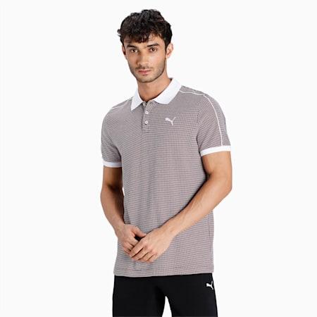 one8 Virat Kohli Slim Fit Men's Jacquard Polo, Puma Black, small-IND