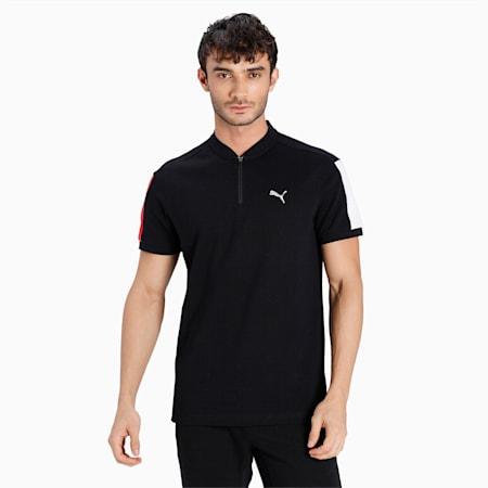 one8 Virat Kohli Stylized Slim Fit Men's Polo, Puma Black, small-IND