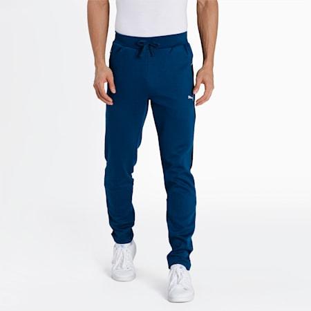 one8 Virat Kohli Slim Fit Men's Colorblock Sweat Pants, Intense Blue, small-IND