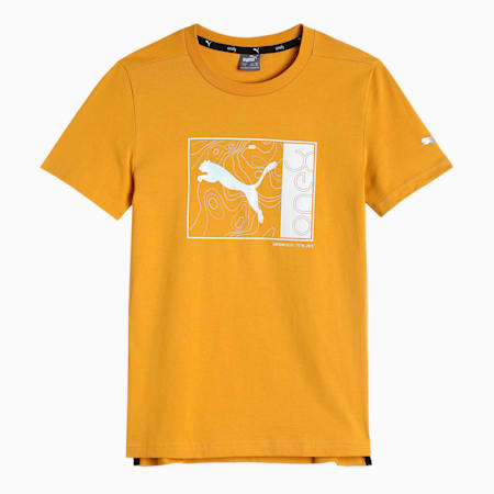 one8 Virat Kohli Graphic Boy's T-Shirt, Mineral Yellow, small-IND