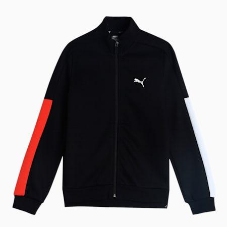 one8 Virat Kohli Colorblock Boy's Full-Zip Jacket, Puma Black, small-IND