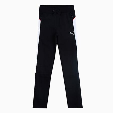 one8 Virat Kohli Colorblock Boy's Sweatpants, Puma Black, small-IND