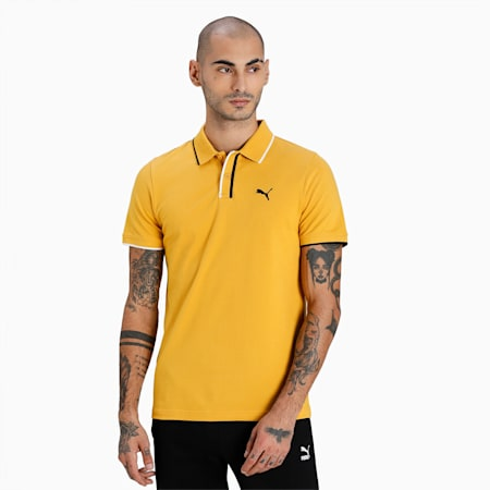 Stylized II Slim Fit Men's Polo, Mineral Yellow, small-IND