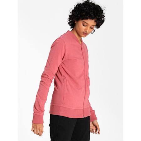 PUMA Reversible Full-Zip Slim Fit Women's Sweat Shirt, Mauvewood-Fudge, small-IND