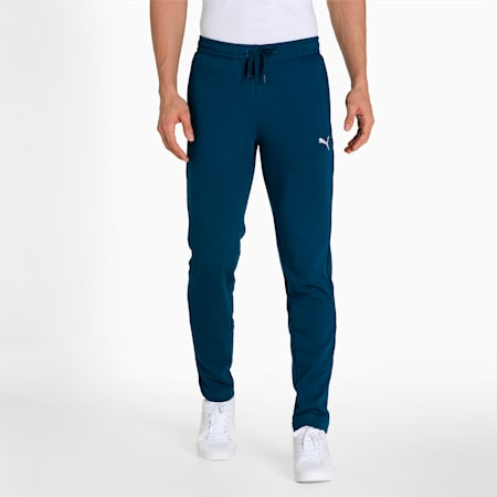 Zippered Knitted Men's Sweat Pants, Intense Blue, small-IND